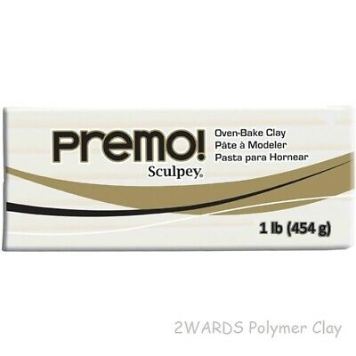 Premo Sculpey Polymer Clay, White 454g (1 lb) - 2wards Polymer Clay & Crafts