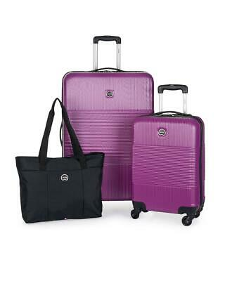 DELSEY Paris 3-Piece Hardside Set Carry-on, Checked Suitcase & Weekender Bag