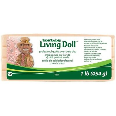 Super Sculpey® Living Doll Clay, 454g - Beige - 2wards Polymer Clay & Crafts