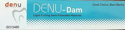 Denu-Dam Gingival Barrier Cinco Jeringa Blanqueamiento Dental Dique Zoom Boost