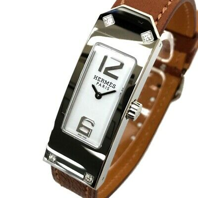 AUTHENTIC UNUSED HERMES Kelly2 Women's Wristwatch Brown Leather KT1.230