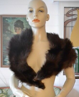 Vintage women's / ladies  brown mink  fur shawl