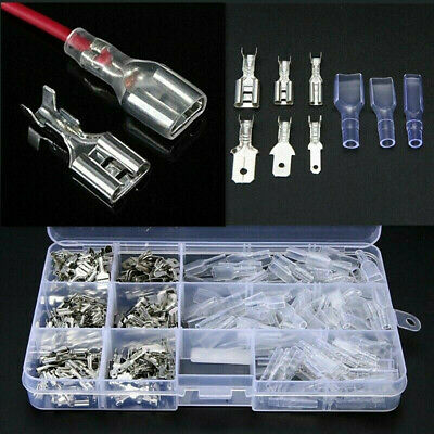 270X Cable Lugs Connector Assortment Crimp Connector Box Cable Flat Connector MD