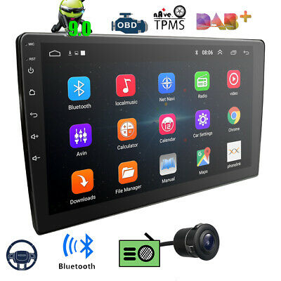 """9"""" Android 9.0 Car Stereo GPS Navigation Radio Player Double Din WIFI DAB+CAMERA"""