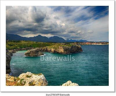 Beautiful Scenery With The Ocean Art/Canvas Print. Poster, Wall Art, Home Decor