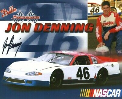 JON DENNING *AMERICAN NASCAR DRIVER* 10x8 Signed Autographed Photo