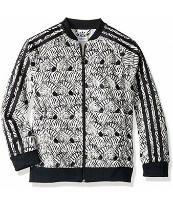 Adidas Originals Girls Zebra Print Track Jacket Soft Sports Top Junior new 3S