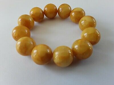 Bernsteinarmband Baltic Amber Bracelet Butterscotch 18 mm