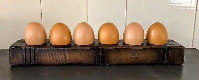 Primitive Resin Treenware Egg Holder /Candle Country/Farmhouse