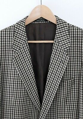 St Michael Vintage M&S Houndstooth Check Size 40L Mens Wool Jacket Blazer Sports