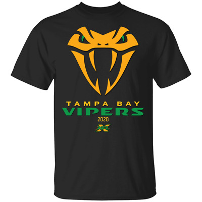 Tampa Bay Vipers XFL 2020 Snake T-shirt Unisex Tee US Full Size