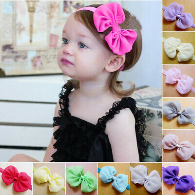 1Fashion Cute Baby Kids Girls Bowknot Headband Ribbon Hair Accessories