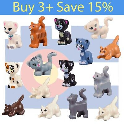 Pink Nose LEGO Friends Cat Maxie Minifig Figure Animal Pet Gray w// Stripes