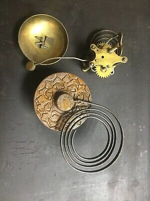 Antique Gilbert Mantel Shelf Clock  Parts Chimes Repair Ap L 18.82 Pa