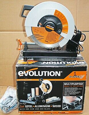 Evolution 355mm Rage 2  TCT Multipurpose Chop Saw. 110volt