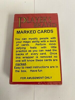 1 Deck Of Secret Marked Poker Player's Board Game Magic Trick Cards Toys Props