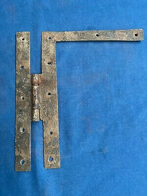 """Antique Hand Forged Wrought Iron H L Hinge Hardware Reclaimed 9 1/4"""""""