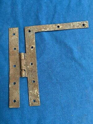 """Antique Hand Forged Wrought Iron H L Hinge Hardware Reclaimed 7 7/8"""""""