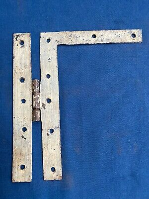 """Antique Hand Forged Wrought Iron H L Hinge Hardware Reclaimed 8"""""""