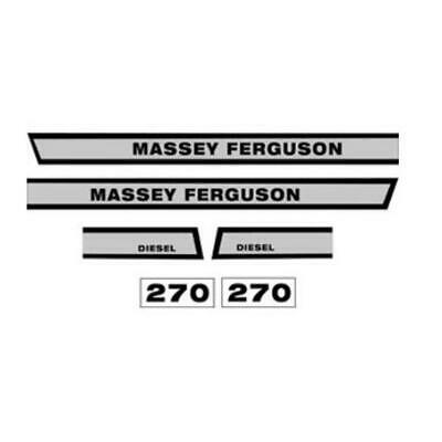 MF270 New Massey Ferguson Tractor 270 Hood Decal Set