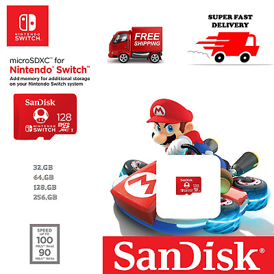 SanDisk Ultra Class 10 Micro SD Card 32GB 64GB 128GB 256GB For Nintendo Switch