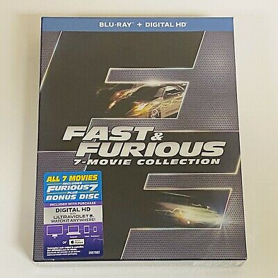 Fast & Furious: 7 Movie Collection - Bluray (New)