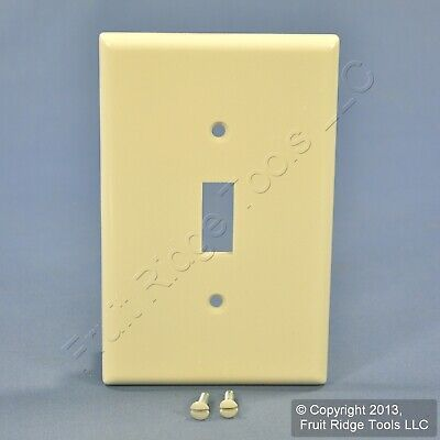 Leviton Almond LARGE MIDWAY Toggle Switch Cover Wall Plate Switchplate 80501-A