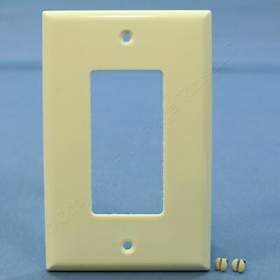 Eagle Almond 1-Gang Decorator Mid-Size Wallplate GFCI Rocker Switch Cover 2051A
