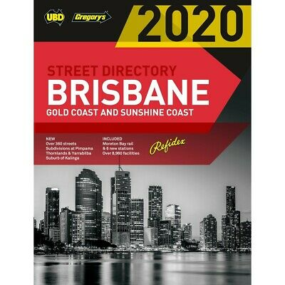 UBD Brisbane 2020 64TH Edition Street Directory - Brisbane, Sunshine Coast & GC