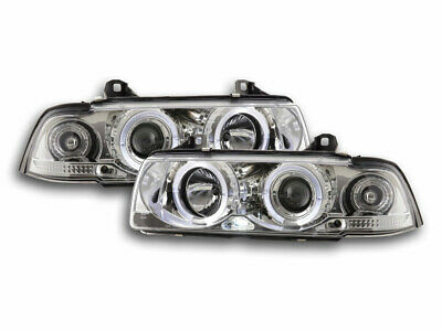 Scheinwerfer Set Angel Eyes für BMW 3er E36 Coupe/Cabrio Bj. 92-98 chrom
