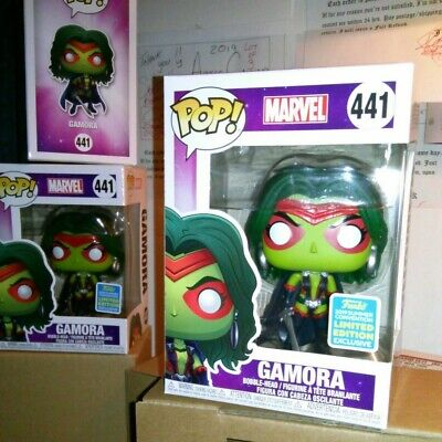 Funko Pop *FREE EcoTEK* MARVEL: Gamora #441 Guardians of  the Galaxy SDCC Excl