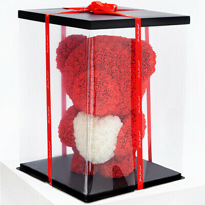 Weihnachtsgeschenk Rose Bear Flower Wedding Party Love Teddy 60cm Box Rot
