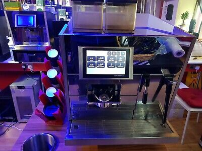 THERMOPLAN Black & White CTS commercial bean to cup Coffee machine