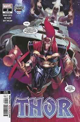 Thor #2  2Nd Print Klein Variant Cover Marvel Comic - Ships 3/4/2020