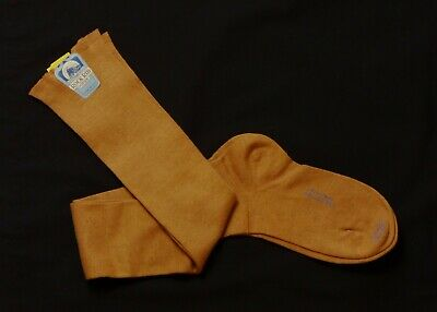 ROCK RIB HOSE - 1920s NWT Brown Cotton Stockings, Size-5