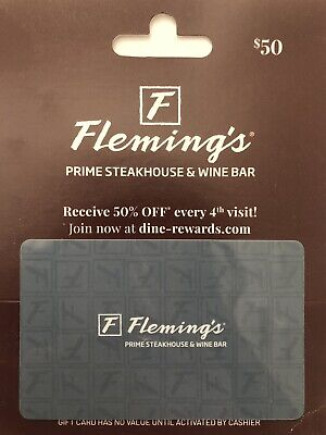$50 Flemings Gift Card Outback Steakhouse Bonefish Grill Carrabba's No Exp
