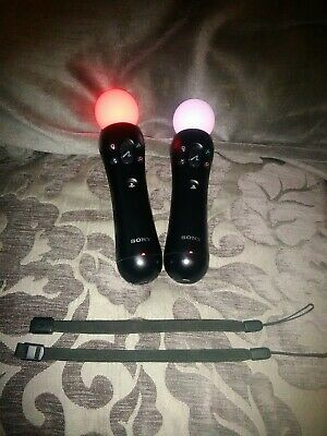 2 playstation vr move controllers with straps and chargers sony psvr