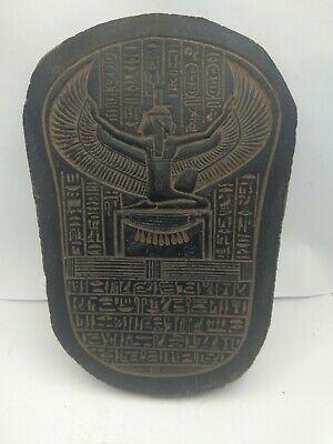 RARE ANCIENT EGYPTIAN ANTIQUE Stela Goddess Isis Winged Stone 1755-1458 Bc