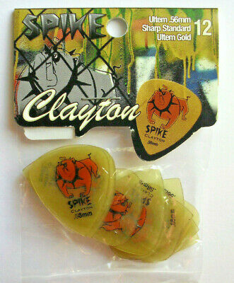12 Clayton Duraplex Picks Plektren 1,00 mm Plektrum Hang Bag
