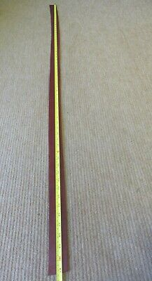"""BROWN BRIDLE  LEATHER STRIP 61"""" X 1 3/4""""(154 X 4.5 cm)  2.8mm THICK  CLEARANCE"""