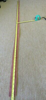 """SUPPLE LIGHT BROWN  LEATHER STRIP 70"""" X 1.5""""(177 X 3.8 cm) 3.5mm   CLEARANCE"""