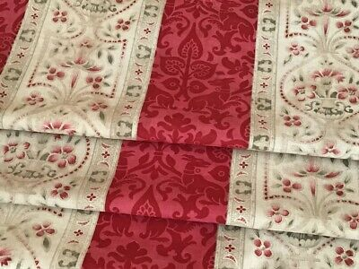Antique French Fabric Printed Cotton Stylized  Decor  late 19th century