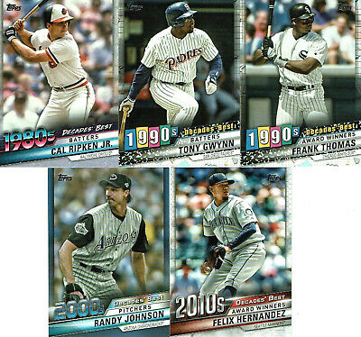 2020 Topps Series 1 DECADES BEST - You Pick the Cards