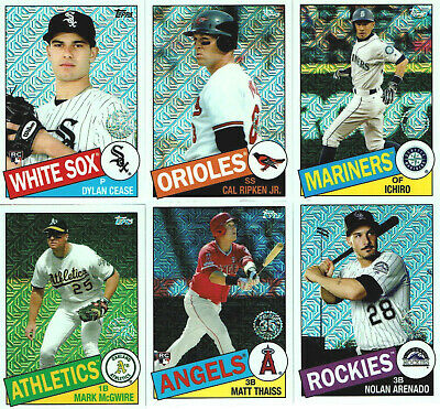 2020 Topps Series 1 Silver Pack 1985 CHROME REFRACTORS - You Pick the Cards