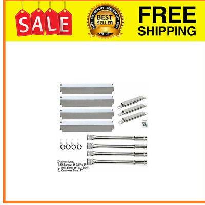 Replacement Charbroil  Gas Grill Stainless Steel Burner,CrossoverTube,Heat Plate
