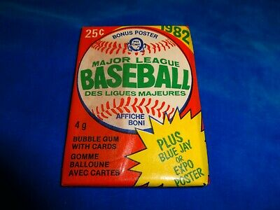 1982 OPC Opeechee Baseball Wax Pack from Box as pictured! RARE!!!