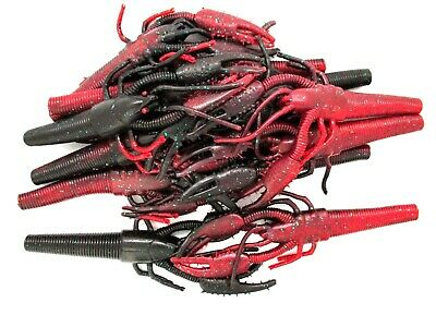 """ONE POUND OF WAVE WORMS 7/"""" TIKI-LOBSTER BULK HUGE CRAWFISH LURE CHART PEPPER"""