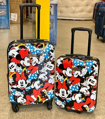 American Tourister Kids Disney 2-piece Carry on & Underseat Luggage Set Minnie