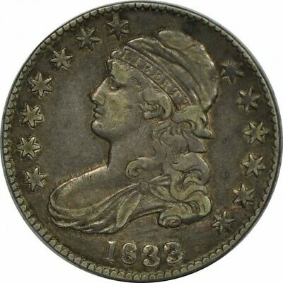 1833 BUST HALF DOLLAR LETTERED EDGE -HIGH GRADE CIRC-GREAT COLLECTOR COIN!-b118
