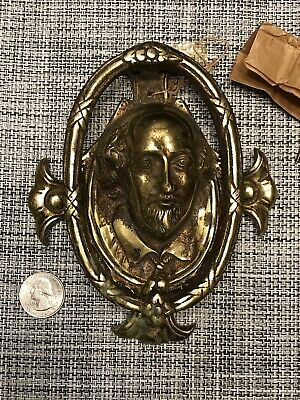 william shakespeare Solid Brass Door Knocker In Box W/screws